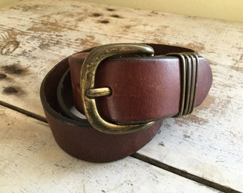 Merona thick leather belt