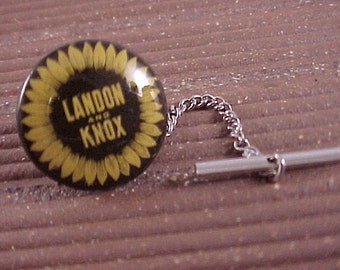 Tie Tack Vintage Landon Knox Political Campaign Button - Free Shipping to USA