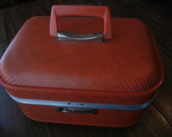Trojan Over Night Travel Case ~ Dark Orange 1970's