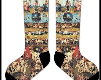 s51 - Hieronymus BOSCH The Garden of EARTHLY DELIGHTS Socks  -  art renaissance