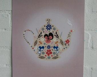 Teapot Print SALE