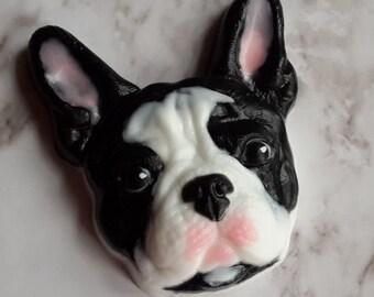 Bulldog mold, dog mold, puppy mold, animal mold, plastic mold, soap mold, french bulldog mold, pug mold, pet mold, hound mold, face mold