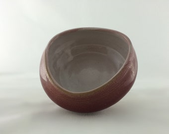 SACRED BOWL in Wine Red Burgundy for Prayer, Meditation, Contemplation - Chevron Cloth Cherishes and Enriches Creation & Purpose, Yoga Bowl