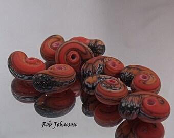 Dragon Kisses, Lampwork Beads, SRA, UK