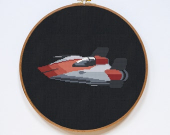 A-Wing Fighter Cross Stitch Pattern, Star Wars Cross Stitch Pattern, Rebel Alliance, Star Wars Spaceship, PDF Format, Instant Download