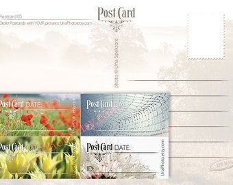 Printable Postcard ID and DATE stickers, Postcard stickers for Postcrossers.