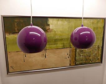 A Pair Of Danish Bilka Globe Pendant Lights