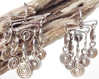 Chandelier Earrings Beginning Wire Jewelry Making Tutorial, Learn to Make Perfect Spirals, PDF download only