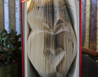 Teacher Appreciation-Folded Book Art-From Recycled Books