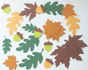 Leaves and acorns for decor or autumn creation