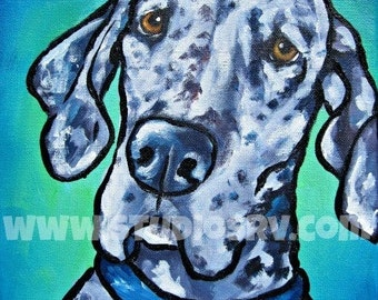 11x14 Merle great dane Print
