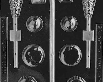 Candy Sampler - Ice Cream All Occasions Chocolate Candy Mold with Exclusive FlavorTools Copyrighted Chocolate Molding Instructions AO053