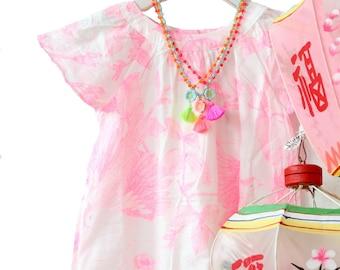 Tassel Necklaces for Girls, Pink tassle Necklace, Girls Boho Necklace, holiday gift