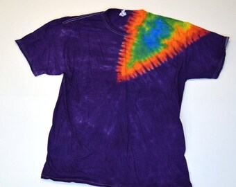 Slice of Life ~ Tie Dye T-Shirt  (Fruit of the Loom Heavy Cotton HD Size L) (One of a Kind)