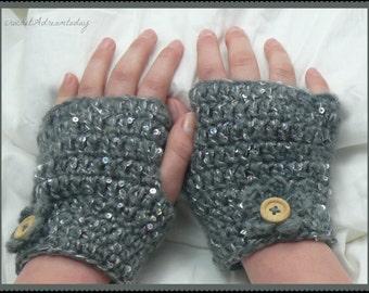 crochet short gloves