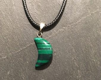 Malachite chakra necklace