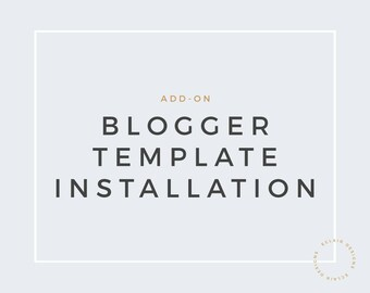 Blogger Template Installation