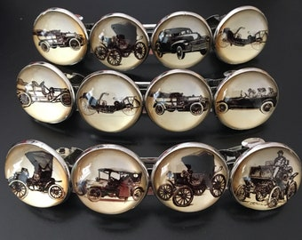 Vintage Motor Cars French Clip, French Clip, Vintage Motor Cars, Vintage Motor Cars Hair Clip