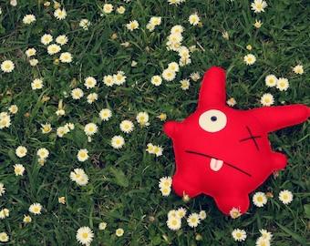 George - Red Felt Monster Soft Toy
