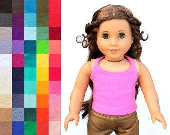 Fits like American Girl Doll Clothes - Summer Halter Top, You Choose Color | 18 Inch Doll Clothes