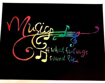 Music is - Acrliyc and Watercolor Painting