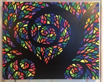Rainbow Mosaic Tree