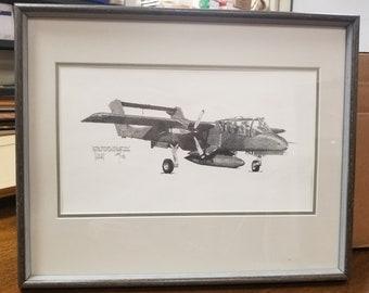 North American OV-10 Broncos drawing