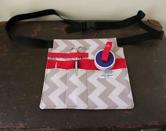 SALE - Nurses Pouch with D-ring adjustable belt, Nurses Tool Belt // READY to POST - as shown // Vet Nurse // Brush storage //Fanny Pack