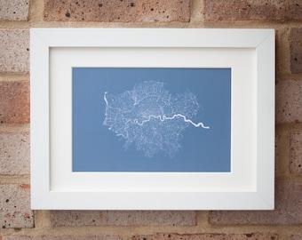 London Geo-Print - Giclée print