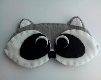 Sleeping mask raccoon