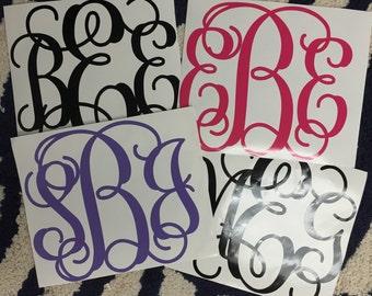 Monogrammed Wall Vinyl Decal Monogram Sticker Dorm Decor Graduation Gift