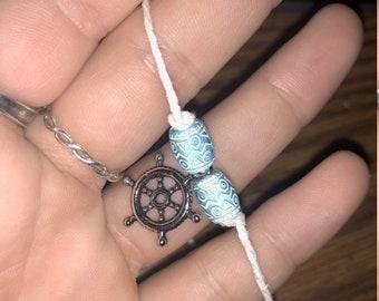 Nautical ankle bracelet