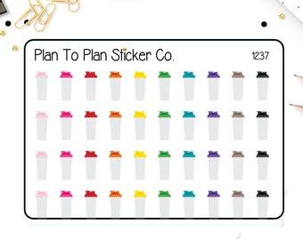 1237~~Protein Shaker Bottle Planner Stickers.