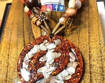 Gye Nyame Beaded Necklace