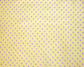 SALE - Fabric - Sevenberry- lemon polka dot cotton print.