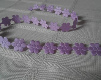ribbon flowers 18mm by the yard
