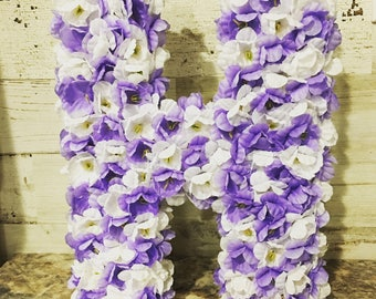 Flower Covered Letters.