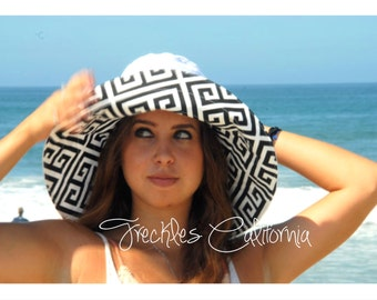 Wide Brim Sun Hat PICK Your COLOR Sun Hat CUSTOM sunhat Select Your Size by  Freckles California