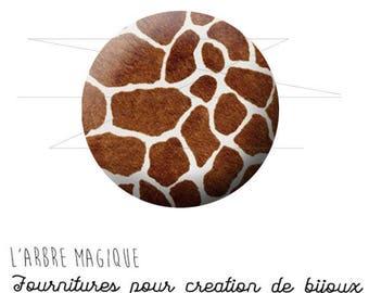 2 cabochons glue giraffe animal skin wild ref 1573 - 16 mm.