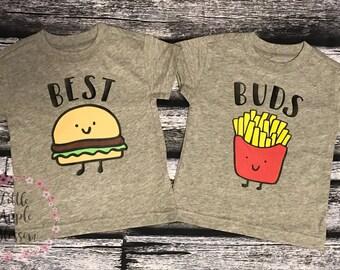 Best buds burger & fries matching set
