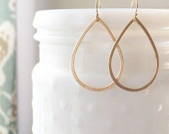 MIA   Gold Teardrop Earrings   Simple Gold Teardrop Earrings   Light Earrings   Dainty Gold Filled Earrings   Gold Fill Teardrop Earrings