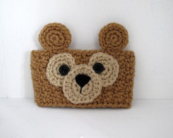 Crochet Duffy Bear Inspired Teddy Bear Coffee Cup Cozy