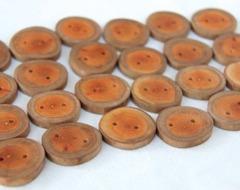5 medium buckthorn buttons - 1.25""