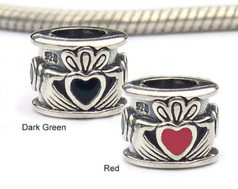 Claddagh European Charms Sterling Silver Beads for Bracelets