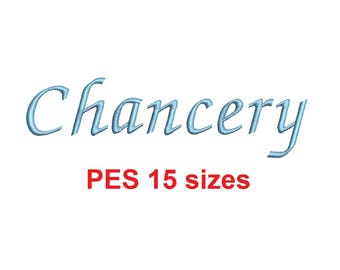 Chancery embroidery font PES format 15 Sizes instant download