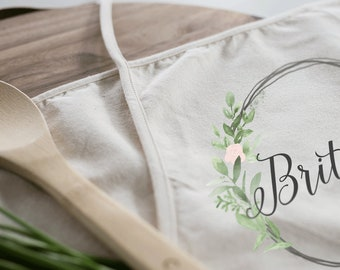 Personalized Apron | Kitchen Apron | Custom Apron | Full Kitchen Apron | Custom Monogram Apron | Vintage Apron | Cotton Canvas Full Apron
