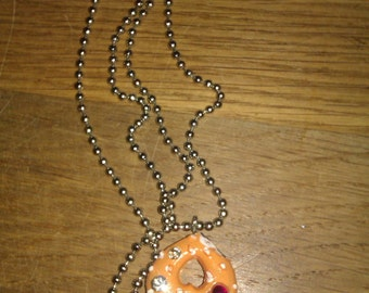 Ball chain necklace with a kawaii pendant