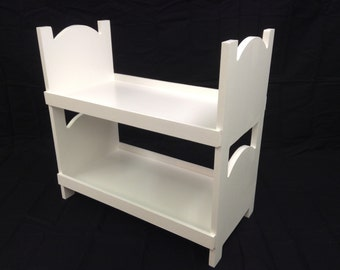 Doll bunk bed for american girl 18 inch dolls. WHITE