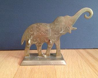 brass elephant / jewelry display / Boho