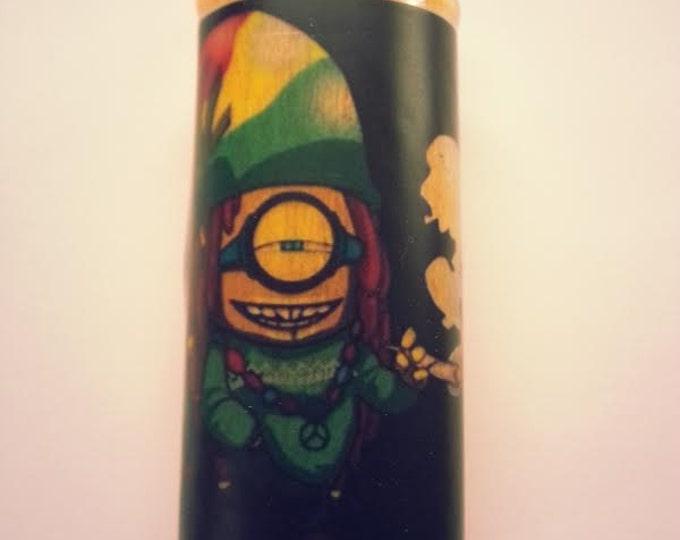 Rasta Minion Lighter Case, Lighter Holder, Lighter Sleeve Pot Weed, Marijuana, Ganja